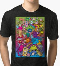 PSYCHEDELIA (RAINBOW BACKGROUND) Tri-blend T-Shirt