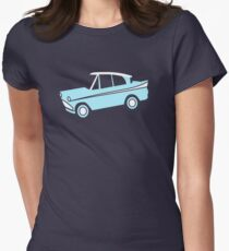 Harry Potter flying car Womens Fitted T-Shirt