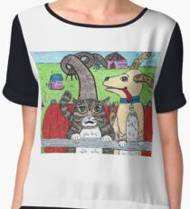 The Difference Between Cats and Dogs Chiffon Top