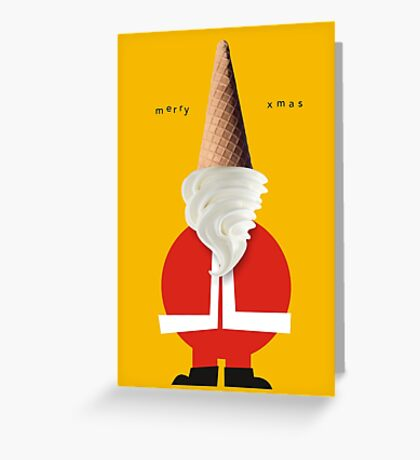 icecream santa Greeting Card
