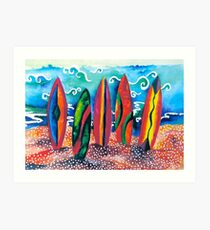 Colorful Surfboards Art Print