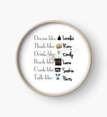 Gilmore girls- Best qualities Clock