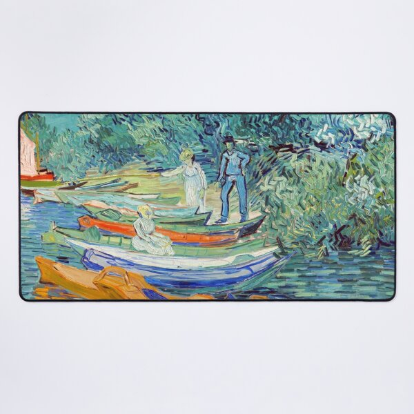 Vincent Van Gogh's Bank Of The Oise At Auvers 1890 Desk Mat