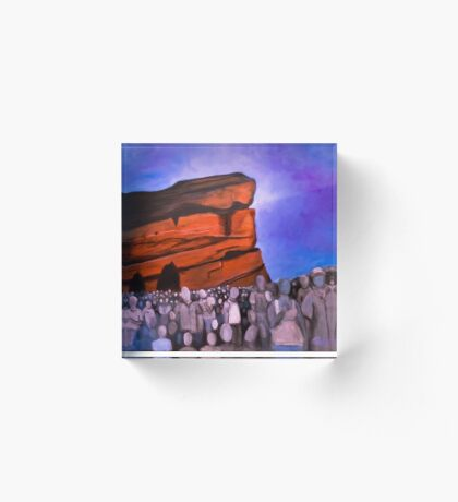 A Show at Red Rocks Acrylic Block