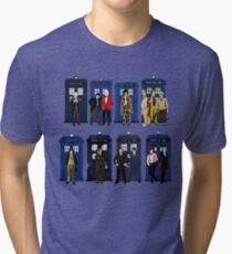 Doctor Who - Doctors & Tardises Tri-blend T-Shirt