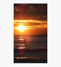 Sunrise Standup Paddle Photographic Print
