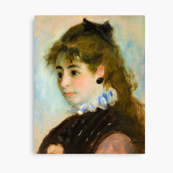 Madame Henriot, 1874 by Pierre-Auguste Renoir Canvas Print