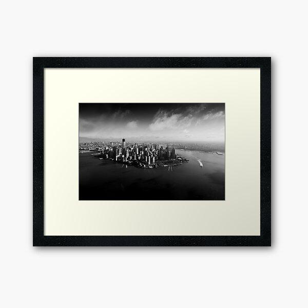 New York From the Sky Framed Art Print