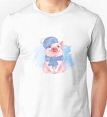 Piglet. Winter Unisex T-Shirt