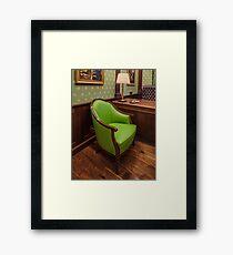 comfortable green chair Framed Print