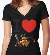 I Heart Torbjorn Cute Spray Women's Fitted V-Neck T-Shirt