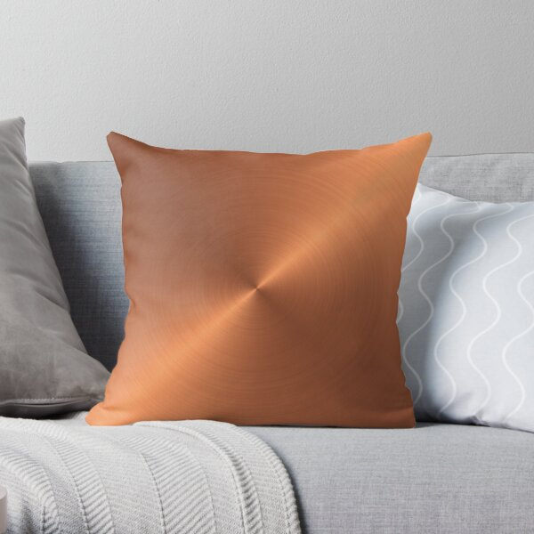 Brushed Copper Throw Pillow