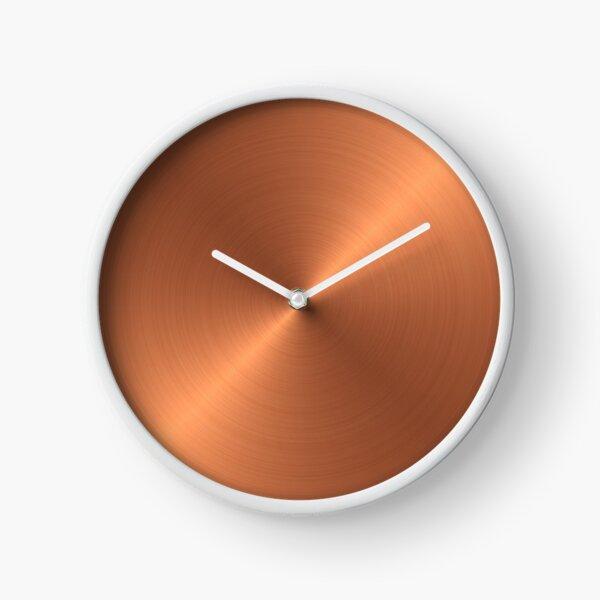 Brushed Copper Clock