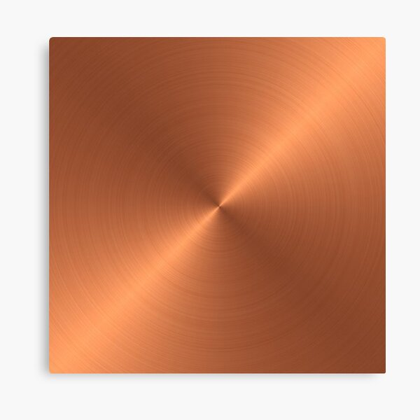 Brushed Copper Canvas Print