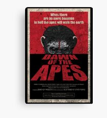 Dawn of the Apes poster parody Canvas Print