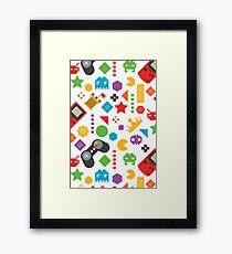 Videogame Game Pattern Framed Print