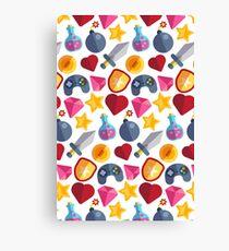 Videogame Game Pattern Canvas Print