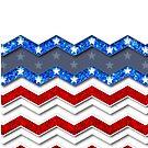 USA GLITTER CHEVRON flag by Emiliano Morciano