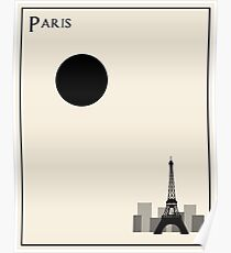 Paris Minimalist Travel Poster - Beige Version Poster