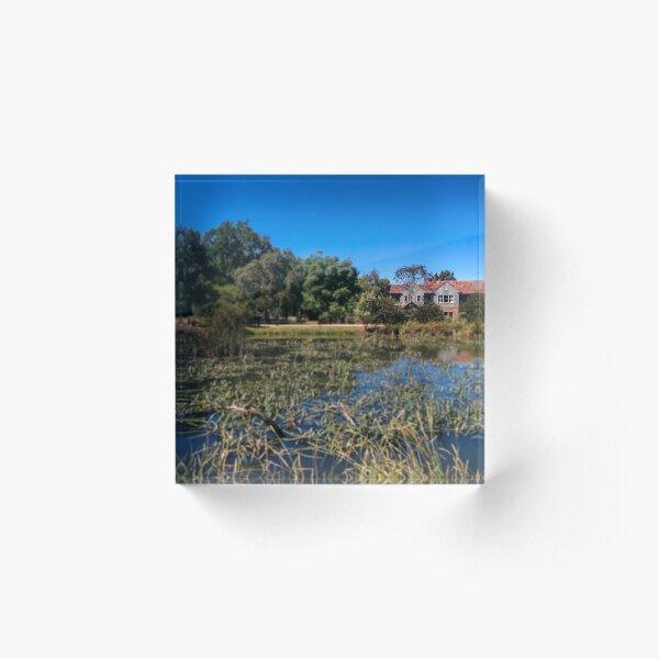 A nice house, a nice lake. Wendouree, Ballarat, Victoria, Australia Acrylic Block