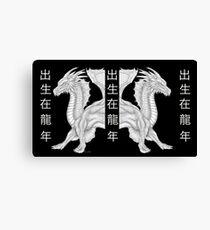 Twin dragon Canvas Print