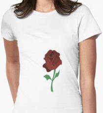 Rose of beauty and the beast Womens Fitted T-Shirt