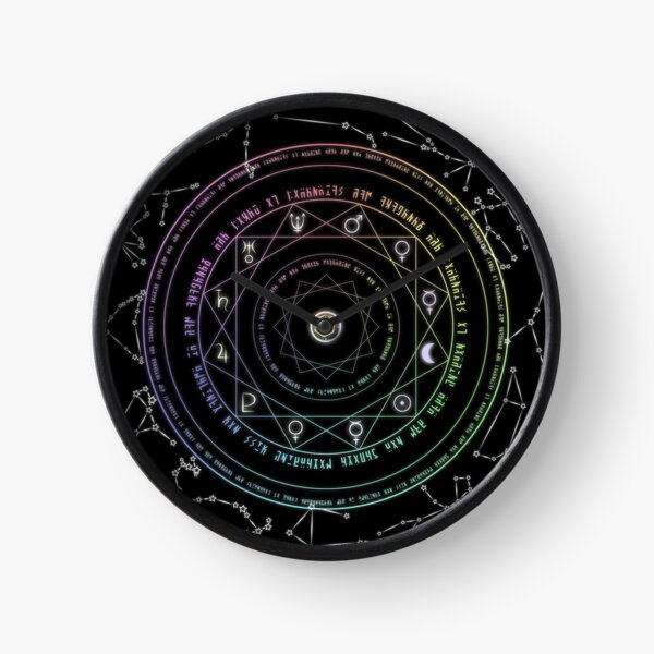 Astrological Magic Circle Clock