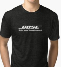 Bose White  Tri-blend T-Shirt