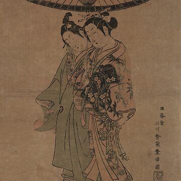 The actors Sanogawa Ichimatsu and Segawa Kikunojo - Toyonobu Ishikawa - 1751 by CrankyOldDude