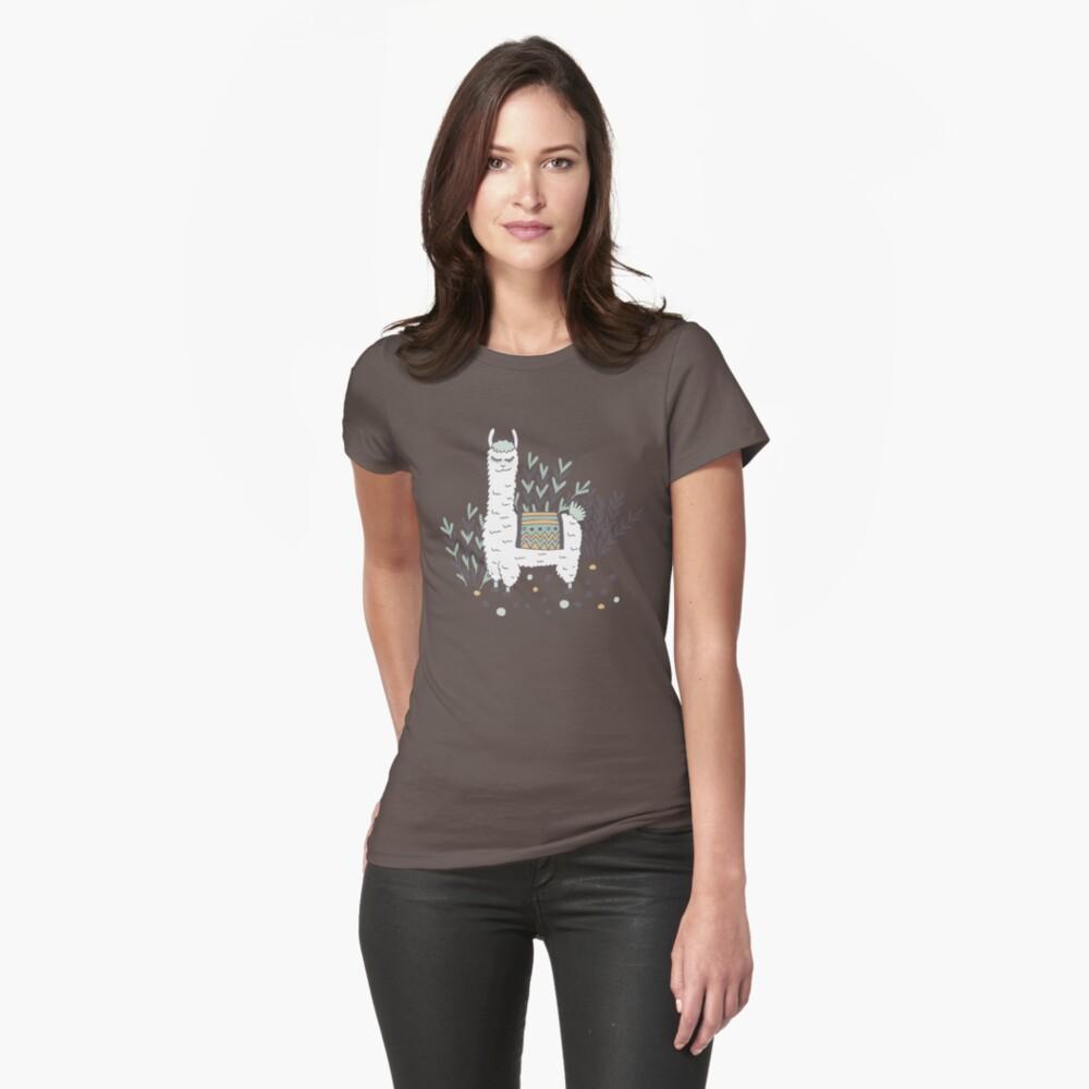 Smug Llama Fitted T-Shirt