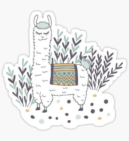 Smug Llama Sticker