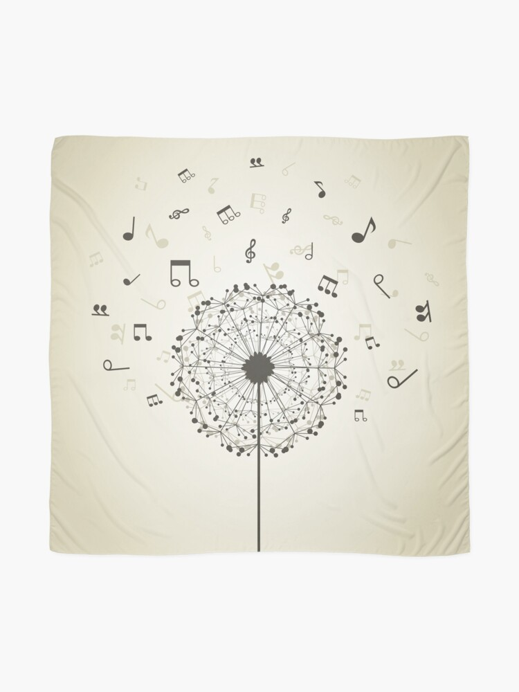 Alternate view of Music a dandelion Scarf