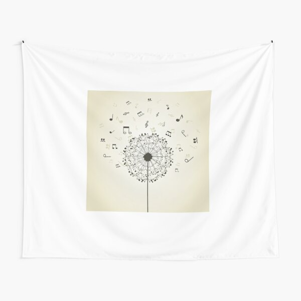 Music a dandelion Tapestry