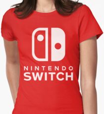 Nintendo Switch Hi-Res Logo Womens Fitted T-Shirt