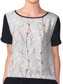 Blossom. Watercolor seamless floral pattern Chiffon Top