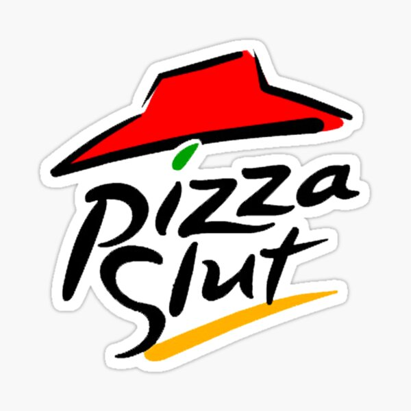Pegatina Puta de pizza Pegatina