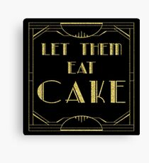 Lienzo Déjalos comer pastel