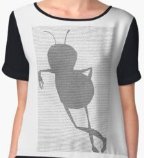 Bee script Barry Benson standing Chiffon Top
