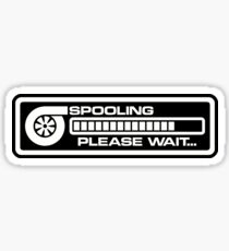 Turbo Spooling White V2 Sticker
