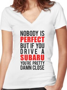 Subaru Owners  Women's Fitted V-Neck T-Shirt