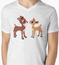 Classic Rudolph and Clarice Men's V-Neck T-Shirt