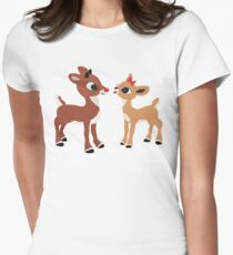 Classic Rudolph and Clarice Women's Fitted T-Shirt