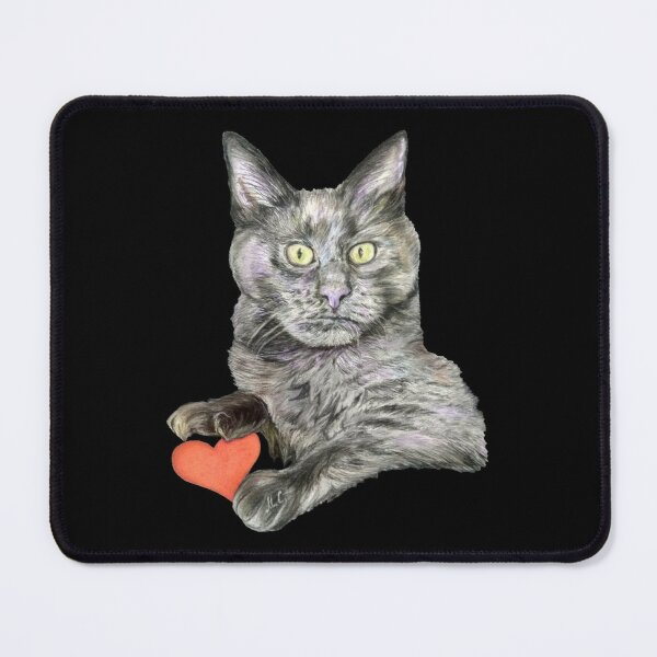 Grey Cat Oliver  Mouse Pad