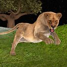 Female Lion Hunting by Vac1