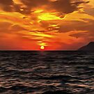 Sunset Over The Mediterranean Sea by taiche