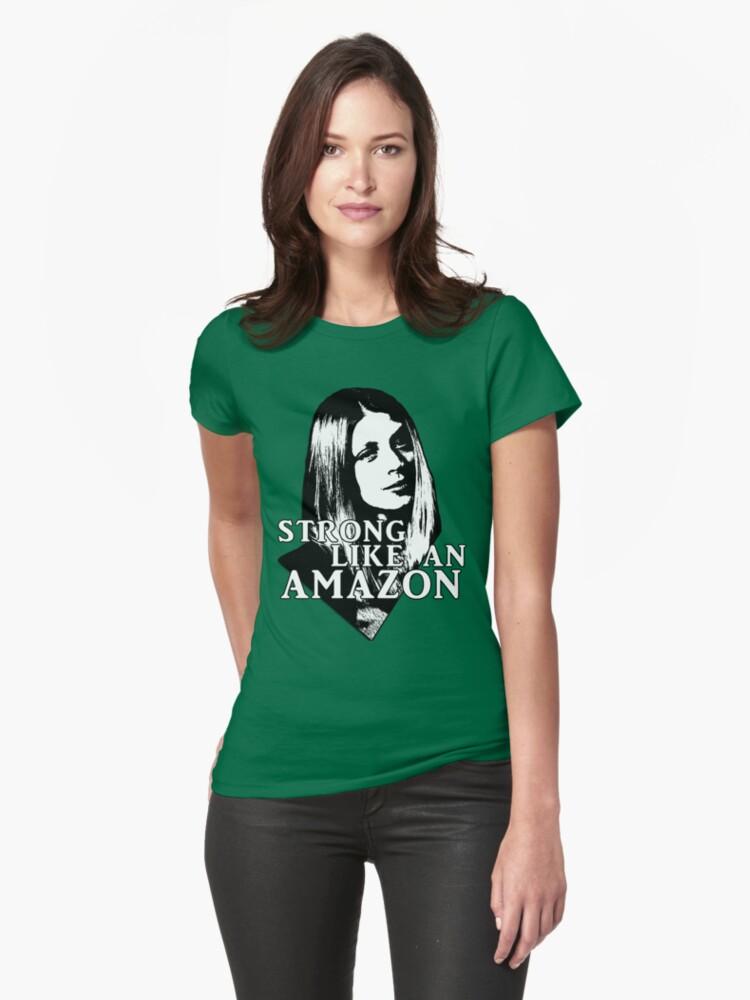 TARA MACLAY: Strong Like An Amazon Womens T-Shirt Front