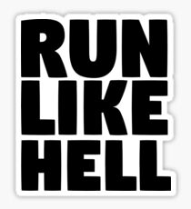 pink floyd run like hell lyrics cool rocker hippie t shirts Sticker
