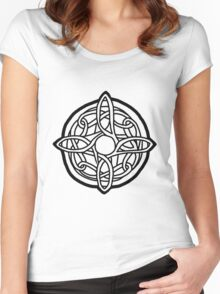 amulet of mara / black Women's Fitted Scoop T-Shirt
