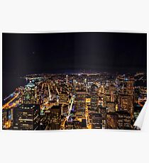 Seattle By Night Poster