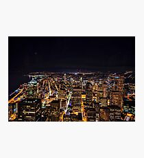 Seattle By Night Photographic Print